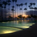 Marbella Towers Infinity Pool by night Juan Dolio