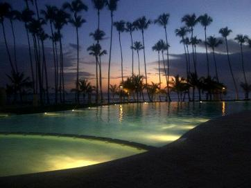 Marbella Infinity pool at night